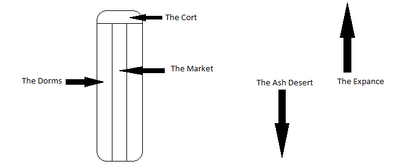 Schematic representation of the Purgatory Tower