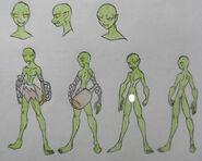 Kichi, Goblin casual and anatomy (censored)