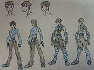 Hal Darkholme, casual and Nightwalker uniform