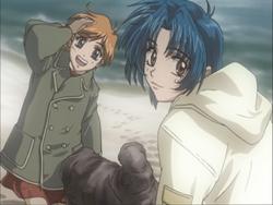 Ayame and Kaname