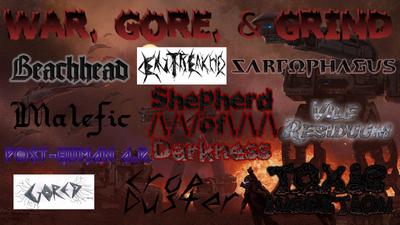 War, gore, & grind poster