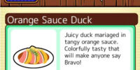 Orange Sauce Duck