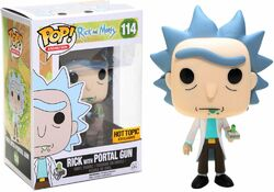 Rick with Portal Gun