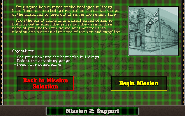 Mission 2, Act 1 Mission Briefing