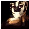 966-american-badger-mustelid-plush