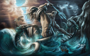 Poseidon Neptune Greek God Art 03
