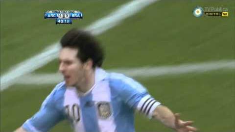 Lionel Messi 3rd goal vs Brazil 6-9-2012 (HD)
