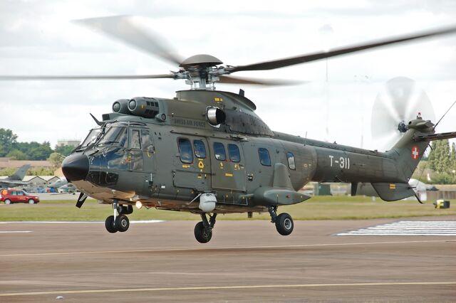 File:Swiss Air Force Super Puma arrives RIAT Fairford 10thJuly2014 arp.jpg