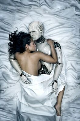 Robot and Woman