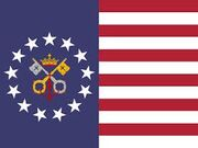 The flag of the new USA