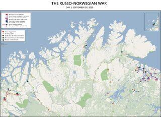 Russo-Norwegian War Map September 10 2010