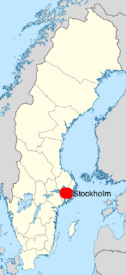 Sweden location map.