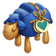 Heirloom Blue Sheep Toy