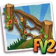 Flowery Driftwood Fence