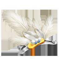 White Feather Hairpin