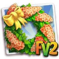 Orange Cassia Wreath