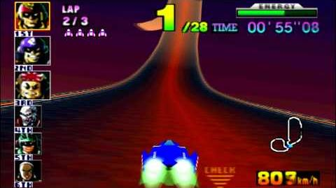 F-Zero X (N64) walkthrough - Fire Field