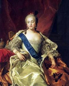 Carle Vanloo Portrait de l'impératrice Élisabeth Petrovna 1760-241x300