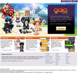 Gaiaonline homepage 2011 oct