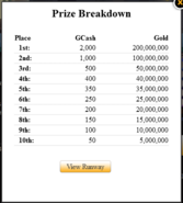 Capture gaia runway prize breakdown