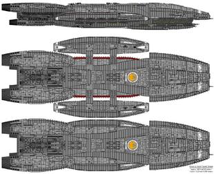 Battlestar Triton - Columbia Class