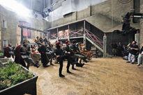 Galavant A New Season BTS Luke Youngblood Mallory Jansen Vinnie Jones 01