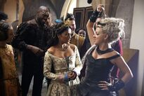 Karen David as Isabella and Sheridan Smith as Princess Jubilee 01