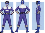 Blue Time Force Ranger Form