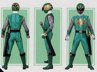 Green Samurai Ranger Form Mode2