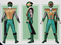 Green Samurai Ranger Form Mode