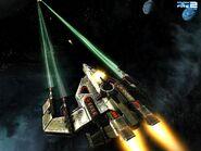 Dark Angel - Fire at enemy ship