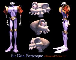 Sir Daniel Fortesque Rendered Version 1