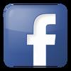 Social facebook box blue