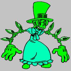 Palette of GG's slime form for Peacock.