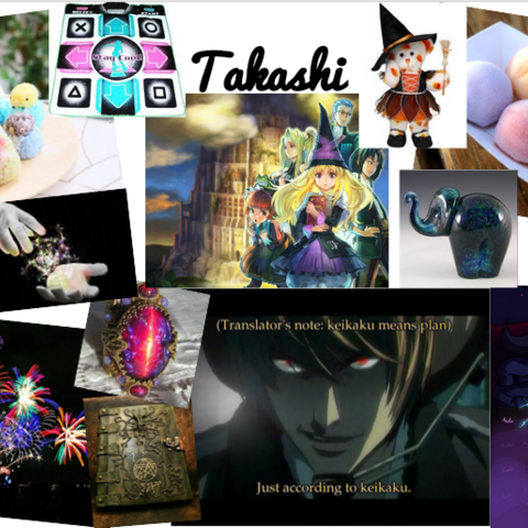 Takashi's aesthetic collage.