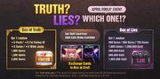 Truth or Lies event