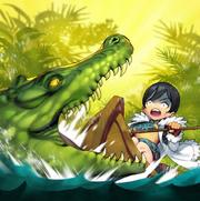 Art yikes crocodile