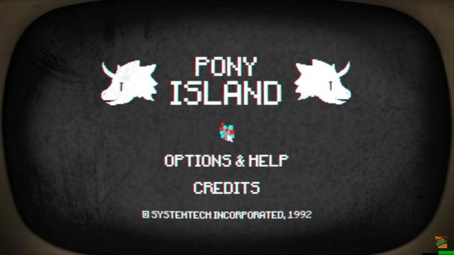 File:Pony Island Start Screen.png