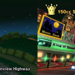 Lightning Cup 3rd Race: Wii Moonview Highway