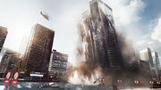 Battlefield 4 - Levolution - Siege of Shanghai - Skyscraper Collapsing