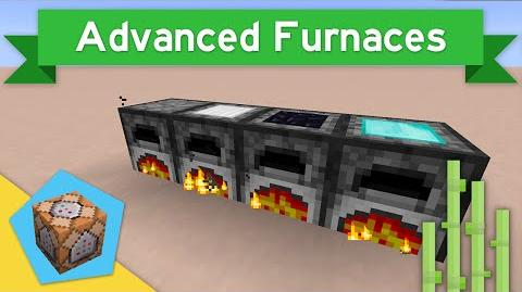 IRON FURNACES in Vanilla Minecraft 1.9 Advanced Furnaces Command Block Creation