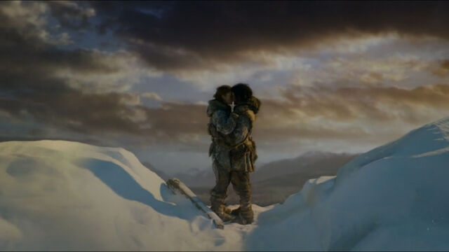Datei:Jon and Ygritte kissing.jpg