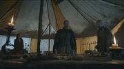 Stannis inside his command tent