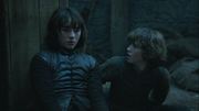 Rickon shocked when bran wargs