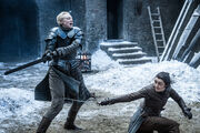 Arya and Brienne Spar