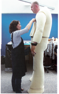 Giant costume behind the scenes