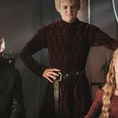 Tywin, Joffrey, and Cersei in