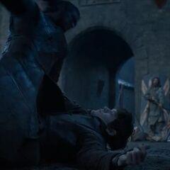 Ramsay é derrotado por Jon Snow.