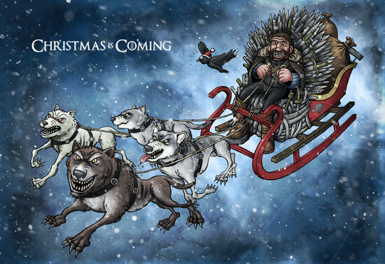 Christmas card 2011 game of thrones by tomberryartist-d4hutou