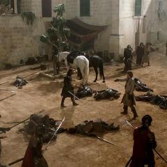 Джеймі Ланністер нападає на Эддарда.